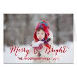 Cartão de cartões de natal alegre e brilhante da