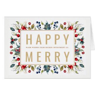 Cartão de cartões de natal alegre feliz