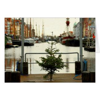 Cartão de cartões de natal - árvore de Natal de
