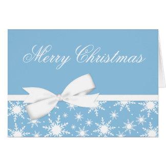 Cartão de cartões de natal azul do Natal do arco