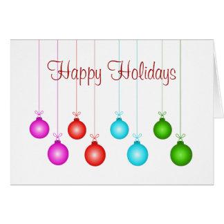 Cartão de cartões de natal colorido