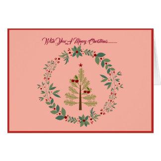 Cartão de cartões de natal colorido Pastel