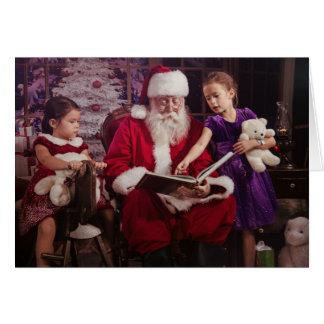 Cartão de cartões de natal com Papai Noel