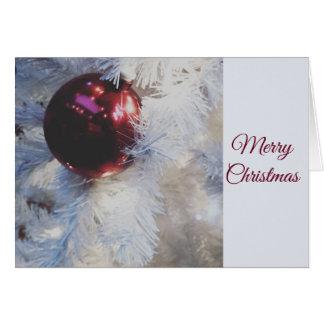 Cartão de cartões de natal da árvore do White