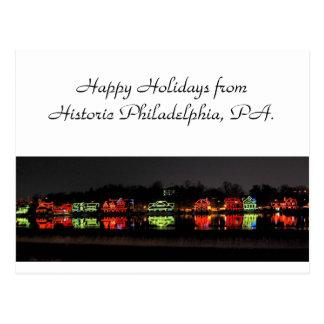 Cartão de cartões de natal de Philadelphfia