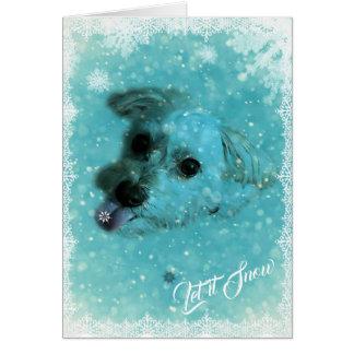 Cartão de cartões de natal de travamento dos
