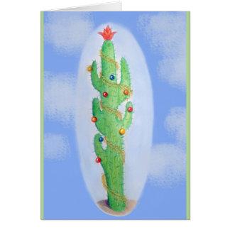 Cartão de cartões de natal do cacto de Natal