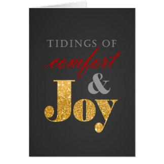 Cartão de cartões de natal do conforto & da
