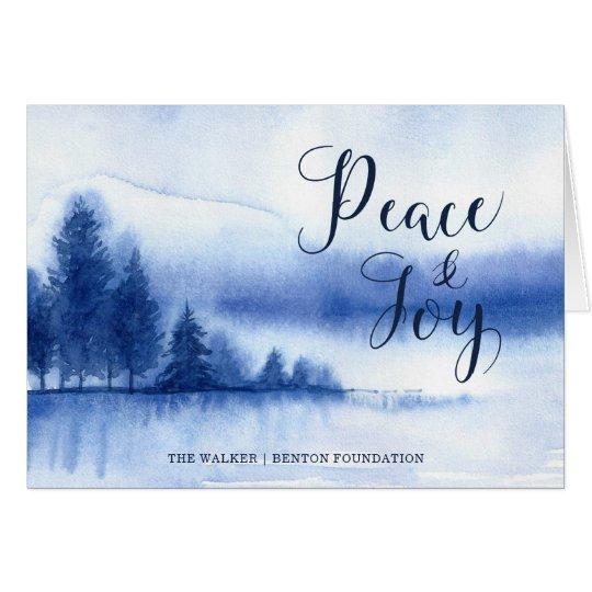 Cartão de cartões de natal do lago winter da