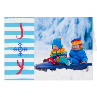 Cartão Cartão de cartões de natal do Natal da alegria |