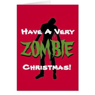 Cartão de cartões de natal do Natal do ZOMBI
