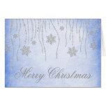 Cartão de cartões de natal do Natal dos flocos de