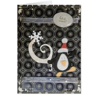 Cartão de cartões de natal do pinguim