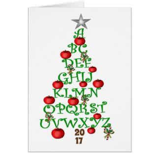 Cartão de cartões de natal do professor