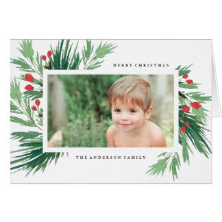 Cartão de cartões de natal do visco