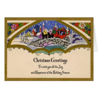 cartão de cartões de natal dos anos 30