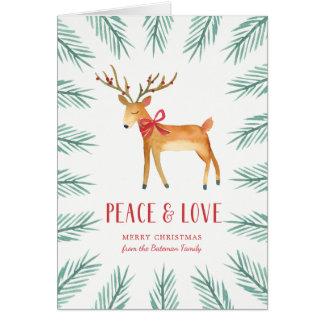 Cartão de cartões de natal dos cervos do Natal