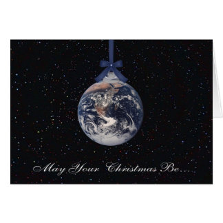 Cartão de cartões de natal dos planetas da terra