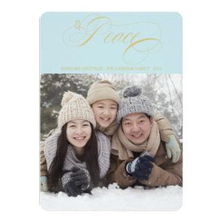Cartão de cartões de natal elegante da foto da paz convite 12.7 x 17.78cm