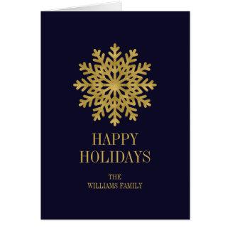 Cartão de cartões de natal elegante do floco de