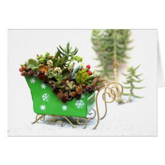Cartão de cartões de natal enchido Succulent do