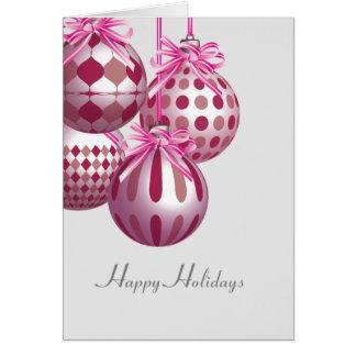 Cartão de cartões de natal feliz