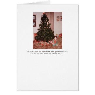 Cartão de cartões de natal meio cheio