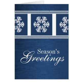 Cartão de cartões de natal moderno dos flocos de