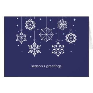 Cartão de cartões de natal móvel dos flocos de