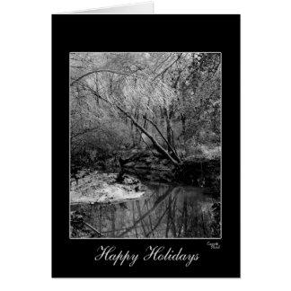 Cartão de cartões de natal preto & branco lindo