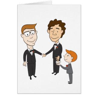 Cartão de casamento alegre