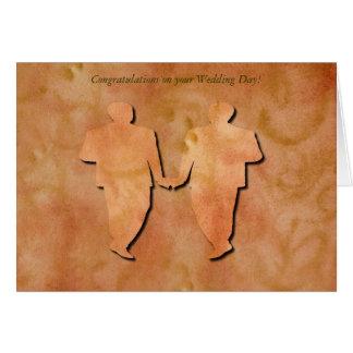 Cartão de casamento alegre do redemoinho