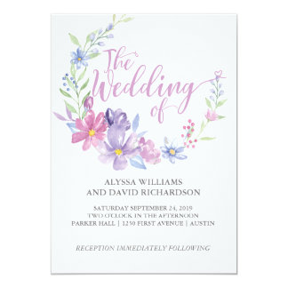 Cartão de casamento botânico floral da grinalda |