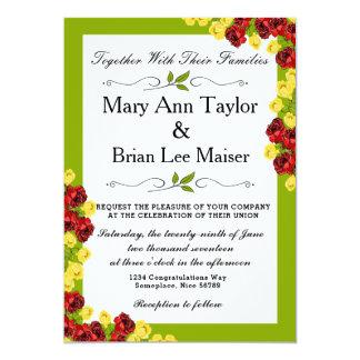 Cartão de casamento cor-de-rosa da flor da tulipa