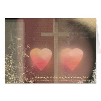 Cartão de casamento cristão do amor
