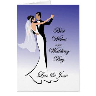 Cartão de casamento de dança do casal para