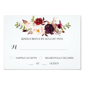 Cartão de casamento de Marsala RSVP