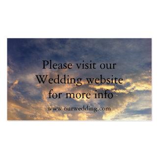 Cartão de casamento do casamento do por do sol cartão de visita