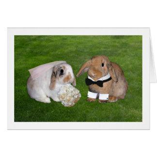 Cartão de casamento do coelho