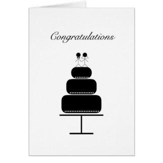 Cartão de casamento dos parabéns