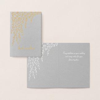 Cartão de casamento dos salgueiros mini