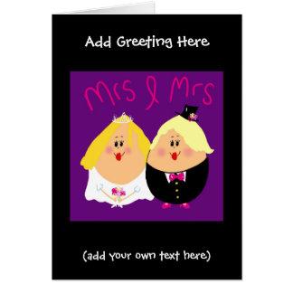 Cartão de casamento engraçado da Sra. e da Sra.
