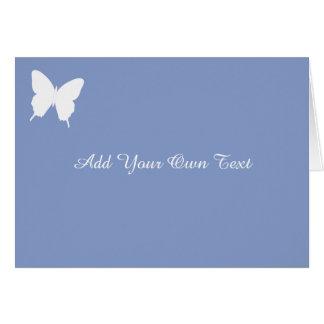 Cartão de casamento feito sob encomenda azul da
