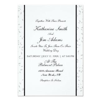 Cartão de casamento floral elegante simples