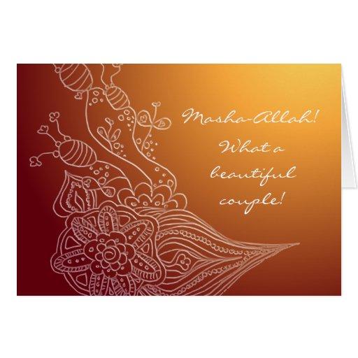 Cartão de casamento islâmico dos parabéns com DUA