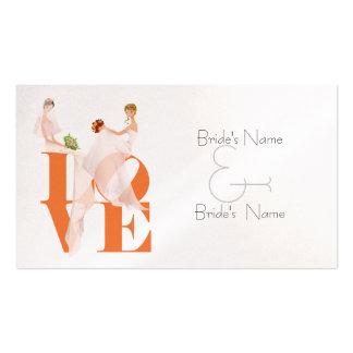 Cartão de casamento lésbica do Web site do AMOR de Cartoes De Visitas