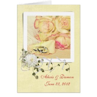 Cartão de casamento personalizado