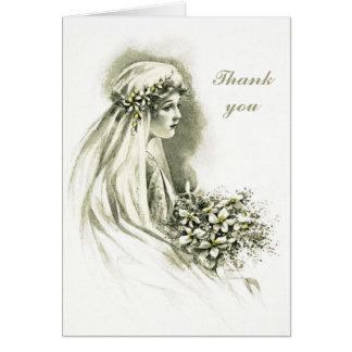 Cartão de casamento vintage