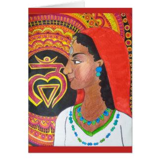 Cartão de Chakra da raiz (monte)