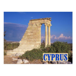 Cartão de Chipre do templo de Apollo